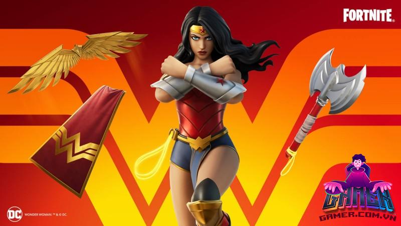 fortnite wonder woman outfit and items full